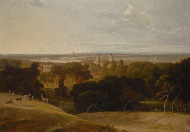 WILLIAM DANIELL, R.A. | A view of London from Greenwich Park