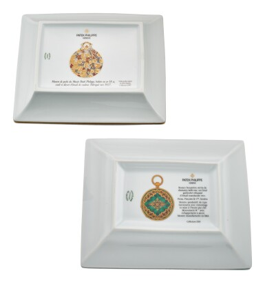 View 3. Thumbnail of Lot 618.  PATEK PHILIPPE   PORCELAINE DE LIMOGES,  A GROUP OF TWO COMMEMORATIVE LIMOGES PORCELAIN AND ENAMEL DISHES, CIRCA 1997 AND 2010.