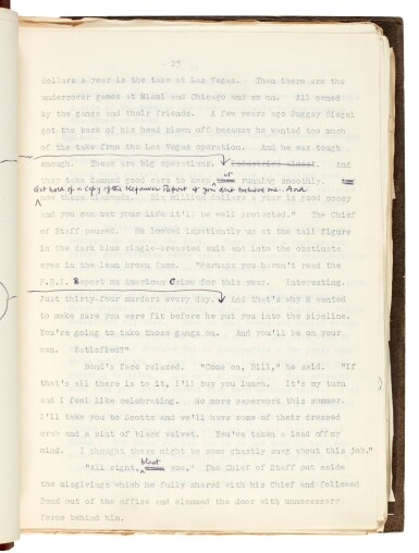 View 2. Thumbnail of Lot 19. FLEMING   Diamonds are Forever, [1955-56], the final revised typescript.