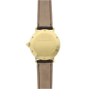 View 4. Thumbnail of Lot 71. GÉRALD GENTA   REFERENCE 3634  A YELLOW GOLD AUTOMATIC JUMP HOUR WRISTWATCH WITH RETROGRADE MINUTES, CIRCA 2005.