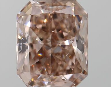 A 1.04 Carat Fancy Pink-Brown Cut-Cornered Rectangular Diamond