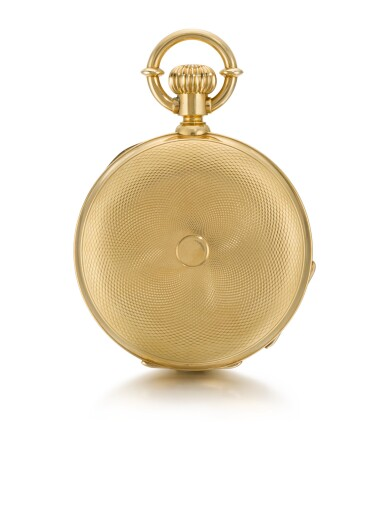 View 3. Thumbnail of Lot 12. ALBERT H. POTTER & CO., GENEVA  [ Albert H. Potter & Co.,日內瓦] | A RARE GOLD HUNTING CASED KEYLESS POCKET CHRONOMETER  CIRCA 1885, NO. 85  [ 罕有黃金精密計時懷錶,年份約1885,編號85].