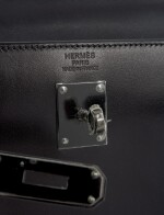 A limited edition, black calf box leather with black hardware, So Black, Kelly 35 with black hardware, Hermès, 2010