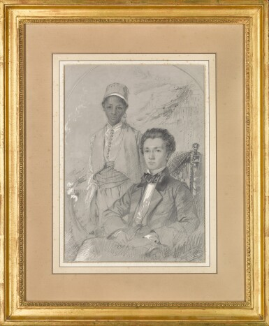 View 2. Thumbnail of Lot 175. Portrait of a Man with an Attendant.