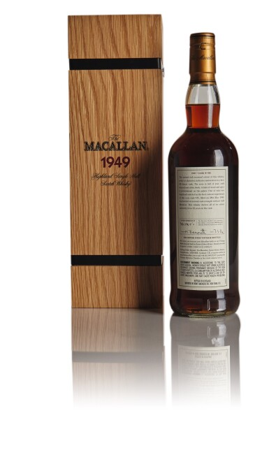 View 2. Thumbnail of Lot 131.  THE MACALLAN FINE & RARE 52 YEAR OLD 41.1 ABV 1949.