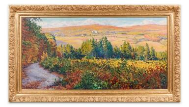 View 3. Thumbnail of Lot 108. Paysage, effets d'automne à Mandres.