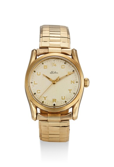 ROLEX | REFERENCE 5590, A YELLOW GOLD WRISTWATCH WITH BRACELET, MADE FOR EATON 1/4 CENTURY CLUB, CIRCA 1959