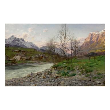PEDER MØNSTED | A MOUNTAINOUS LANDSCAPE IN PFARRWERFEN, AUSTRIA