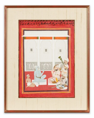 View 6. Thumbnail of Lot 66. INDIA, RAJASTHAN AND PUNJAB, 19TH CENTURY | TWO PORTRAITS AND TWO GATHERINGS.