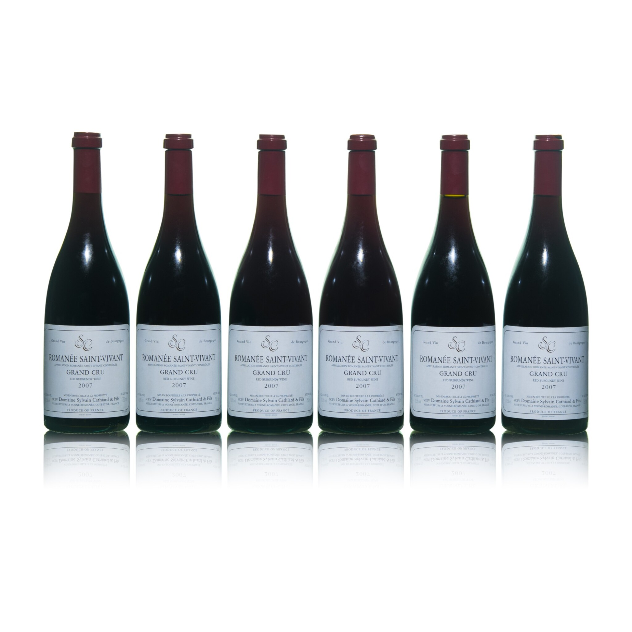 View full screen - View 1 of Lot 195. Romanée St. Vivant 2007 Sylvain Cathiard (6 BT).