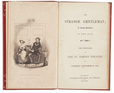 Dickens, The Strange Gentleman, 1837, first edition with rare frontispiece