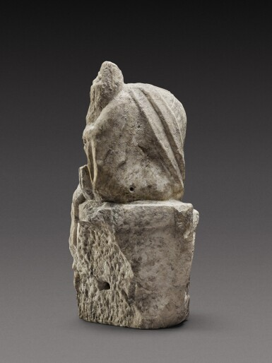 View 2. Thumbnail of Lot 61. A Roman Marble Figure of Fortuna, circa 2nd Century A.D..