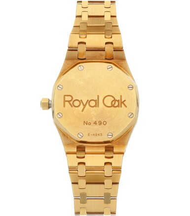View 4. Thumbnail of Lot 32. Royal Oak, Ref. 25730BA/O/0789BA/01  Yellow gold dual time wristwatch with date, power reserve indication and bracelet  Circa 1998.