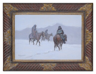 View 2. Thumbnail of Lot 121. Two Indians on Horseback.