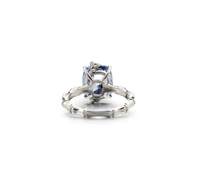 View 3. Thumbnail of Lot 1. SAPPHIRE AND DIAMOND RING.