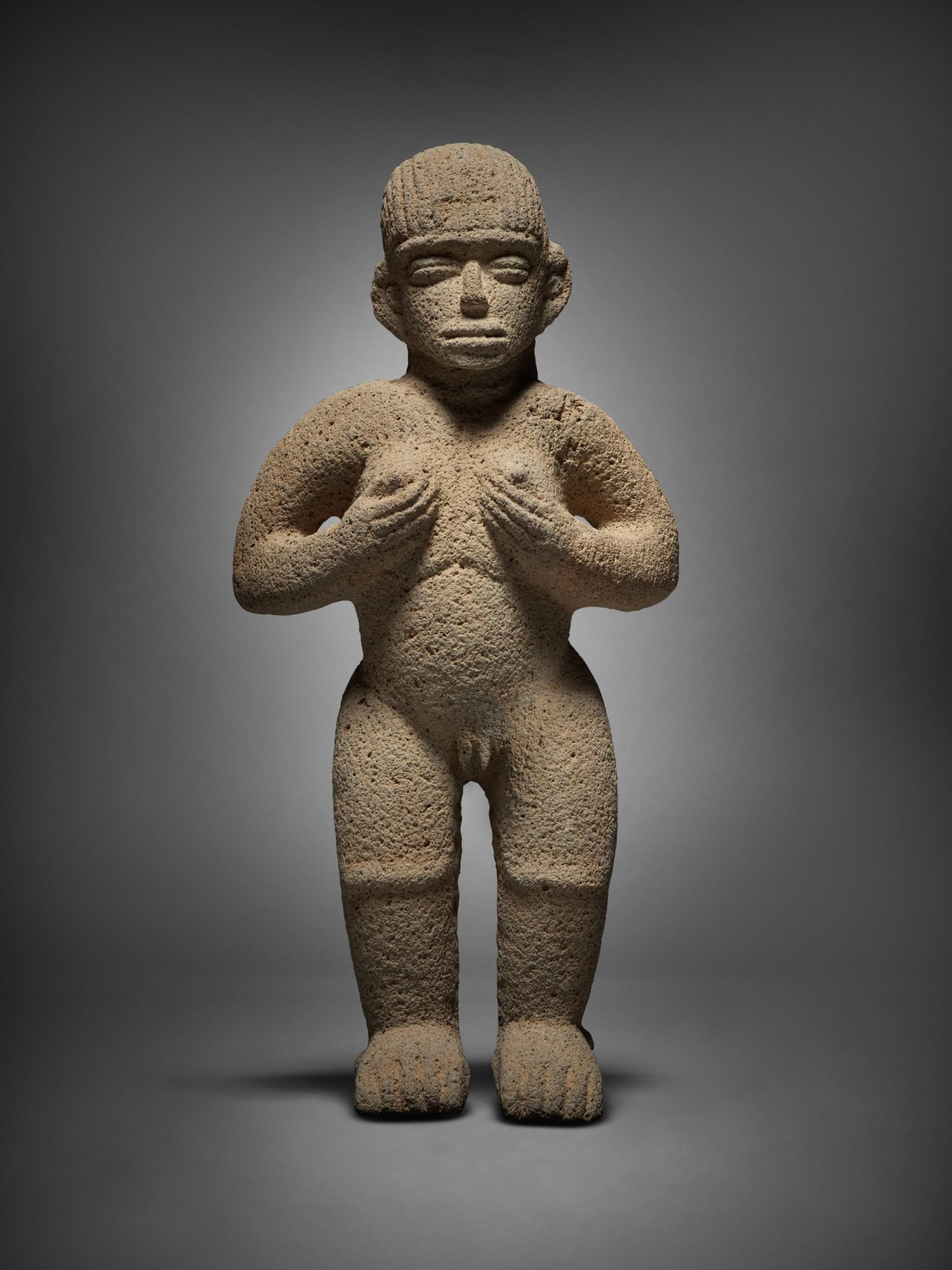 View full screen - View 1 of Lot 94. Costa Rican Stone Female Figure, Atlantic Watershed Region Period VI, Circa AD 1000-1500.