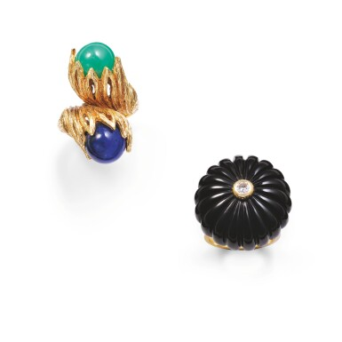 View 1. Thumbnail of Lot 68. Two rings [Deux bagues].