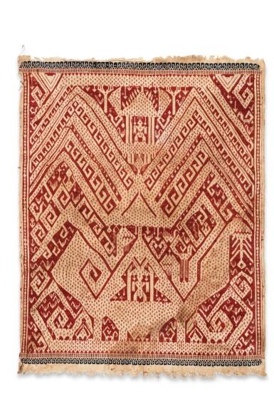 """View 3. Thumbnail of Lot 4. Deux tissus cérémoniels """"à jonques"""" tampan, Lampung, Sumatra, Indonésie, début du 20e siècle   Two ceremonial """"ship clothes"""" tampan, Lampung, Sumatra, Indonesia, early 20th century."""