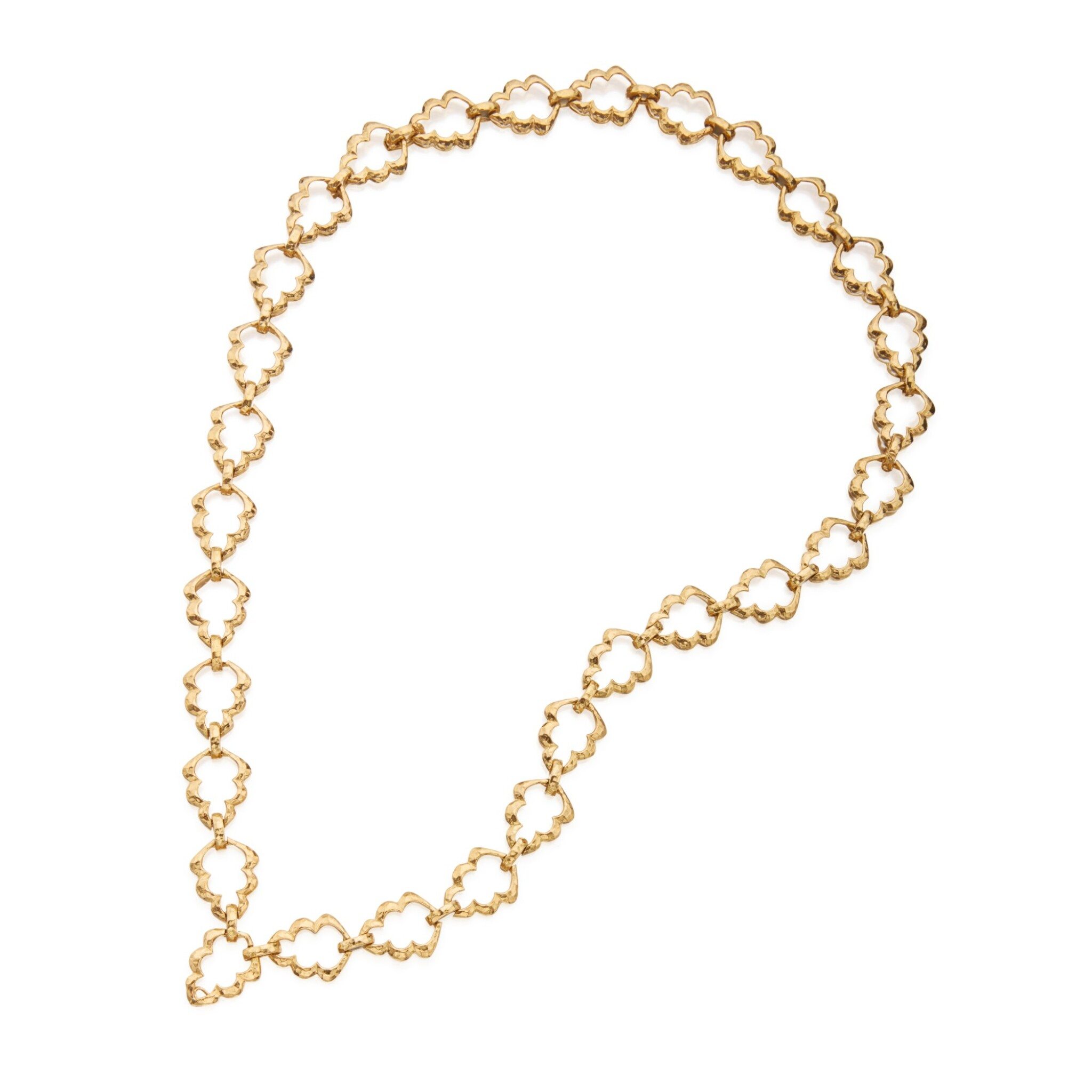 View full screen - View 1 of Lot 39. Gold Necklace.