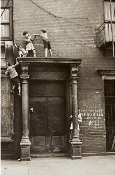 View 1. Thumbnail of Lot 37. HELEN LEVITT | NEW YORK (BOYS ON A PEDIMENT).