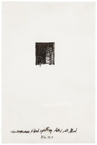 View 1. Thumbnail of Lot 12. BRICE MARDEN | THE AMERICANS LIKE SPILLING LOTS OF IT, BLOOD.