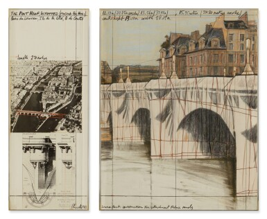 View 2. Thumbnail of Lot 61. The Pont Neuf Wrapped: Project for Paris.