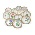 A Set of Twelve Royal Copenhagen 'Flora Danica' Dinner Plates, Modern