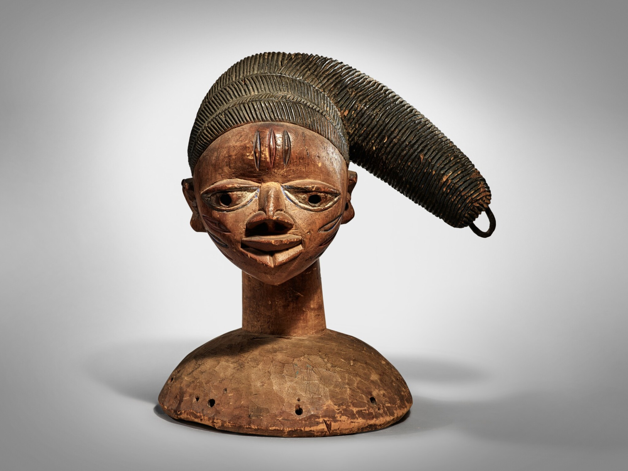 View full screen - View 1 of Lot 69. Yoruba Headdress, Nigeria.