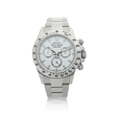 View 1. Thumbnail of Lot 4. ROLEX | REFERENCE 116520 DAYTONA A STAINLESS STEEL AUTOMATIC CHRONOGRAPH WRISTWATCH WITH BRACELET, CIRCA 2012.