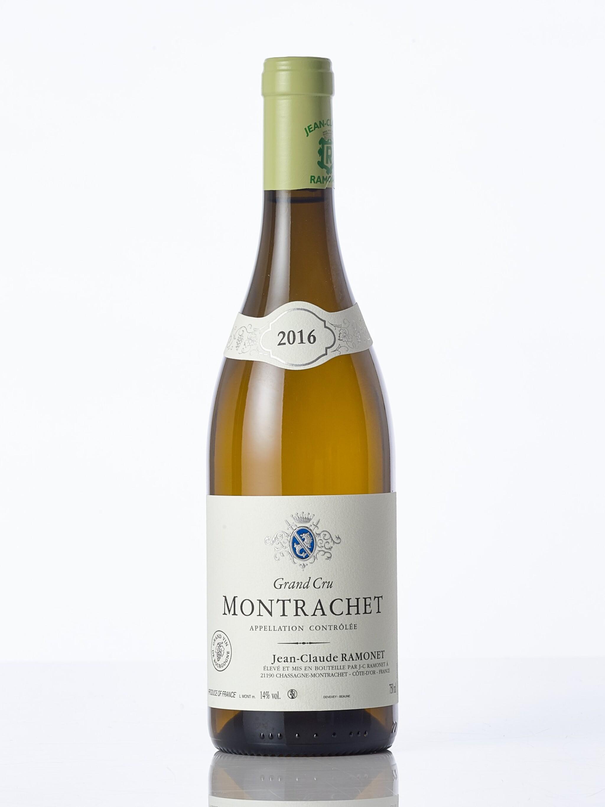 View full screen - View 1 of Lot 6302. Montrachet 2016 Domaine Ramonet (1 BT)     .