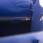 Hermes Bleu Encre Sellier Kelly 28cm of Epsom Leather with Palladium Hardware