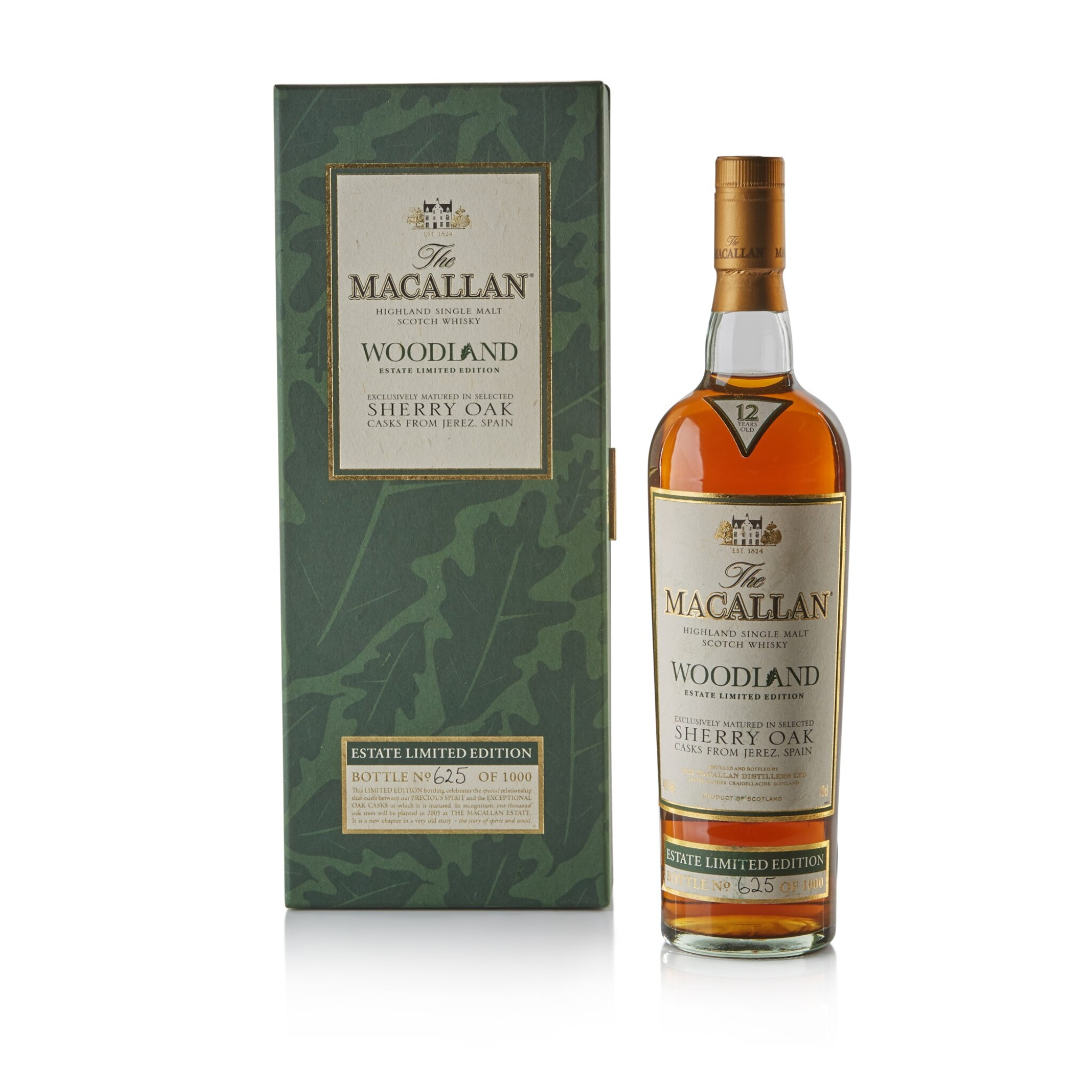 View full screen - View 1 of Lot 93. The Macallan Woodland Estate 40.0 abv NV .