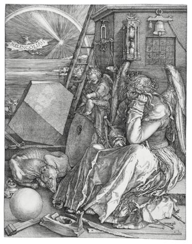 View 1. Thumbnail of Lot 6. Melencolia I (B. 74; M., Holl. 75).