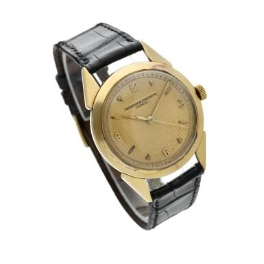View 3. Thumbnail of Lot 117. A yellow gold wristwatch, Circa 1960 .