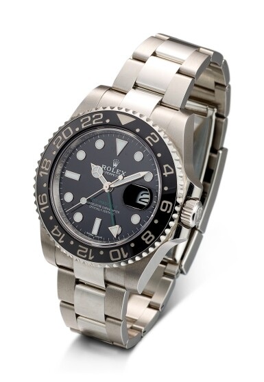 ROLEX   GMT MASTER II, REFERENCE 116710, A STAINLESS STEEL DUAL TIME ZONE WRISTWATCH WITH DATE AND BRACELET, CIRCA 2019