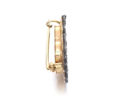 View 2. Thumbnail of Lot 670. Enamel and diamond brooch, circa 1890 | 琺瑯配鑽石別針,約1890年.