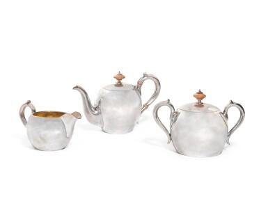 A Fabergésilver tea set, Moscow, 1908-1917
