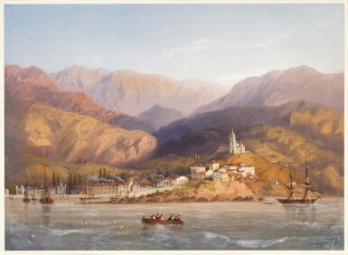 View 1. Thumbnail of Lot 86. A view of Yalta, Crimea.