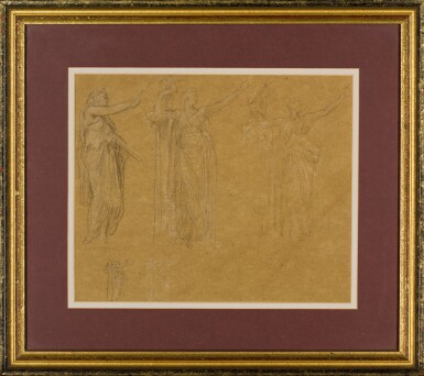 View 2. Thumbnail of Lot 19. Figure Studies for the Royal Academy Jubilee Address of 1887.