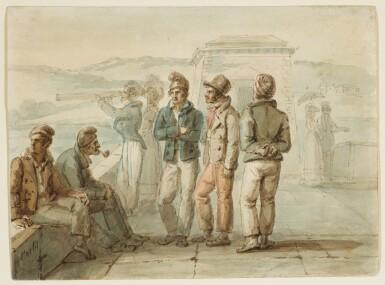 JEAN HENRI MARLET | A group of sailors
