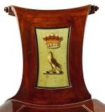 A SET OF EIGHT IRISH GEORGE III MAHOGANY HALL CHAIRS, LATE 18TH CENTURY/EARLY 19TH CENTURY