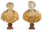 ITALIAN, 18TH CENTURY AFTER THE ANTIQUE | Pair of Busts of the Emperors Augustus and Otho