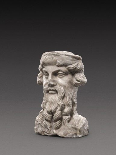 View 2. Thumbnail of Lot 96. A Roman Marble Herm Bust of Priapos, circa 2nd Century A.D..
