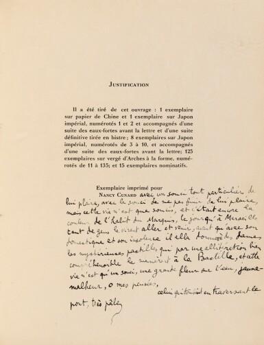 View 2. Thumbnail of Lot 111. . Le Con d'Irène. 1928. Dessin érotique de Masson. Envoi à Nancy Cunard et Eluard. Coll Lacan.