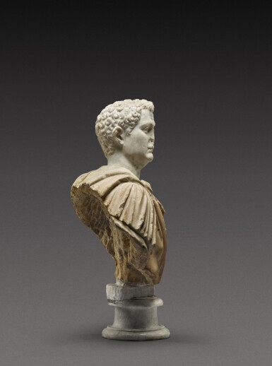View 5. Thumbnail of Lot 108. A Roman Marble Portrait Bust of a Man, the head circa A.D. 80, the shoulders 2nd Century A.D..