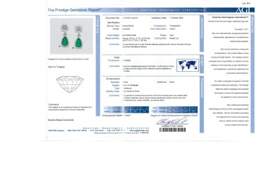 View 3. Thumbnail of Lot 163. Pair of Emerald and Diamond Pendant-Earclips [祖母綠配鑽石吊耳環一對].