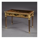 A LOUIS XVI GILT BRONZE-MOUNTED EBONY AND JAPANESE LACQUER CENTRE TABLE BY LEVASSEUR, LATE 18TH/EARLY 19TH CENTURY