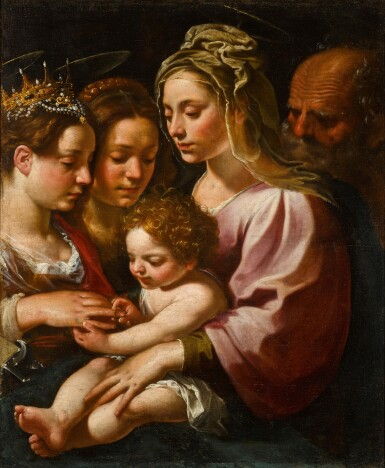 View 1. Thumbnail of Lot 118. The Mystic Marriage of Saint Catherine.