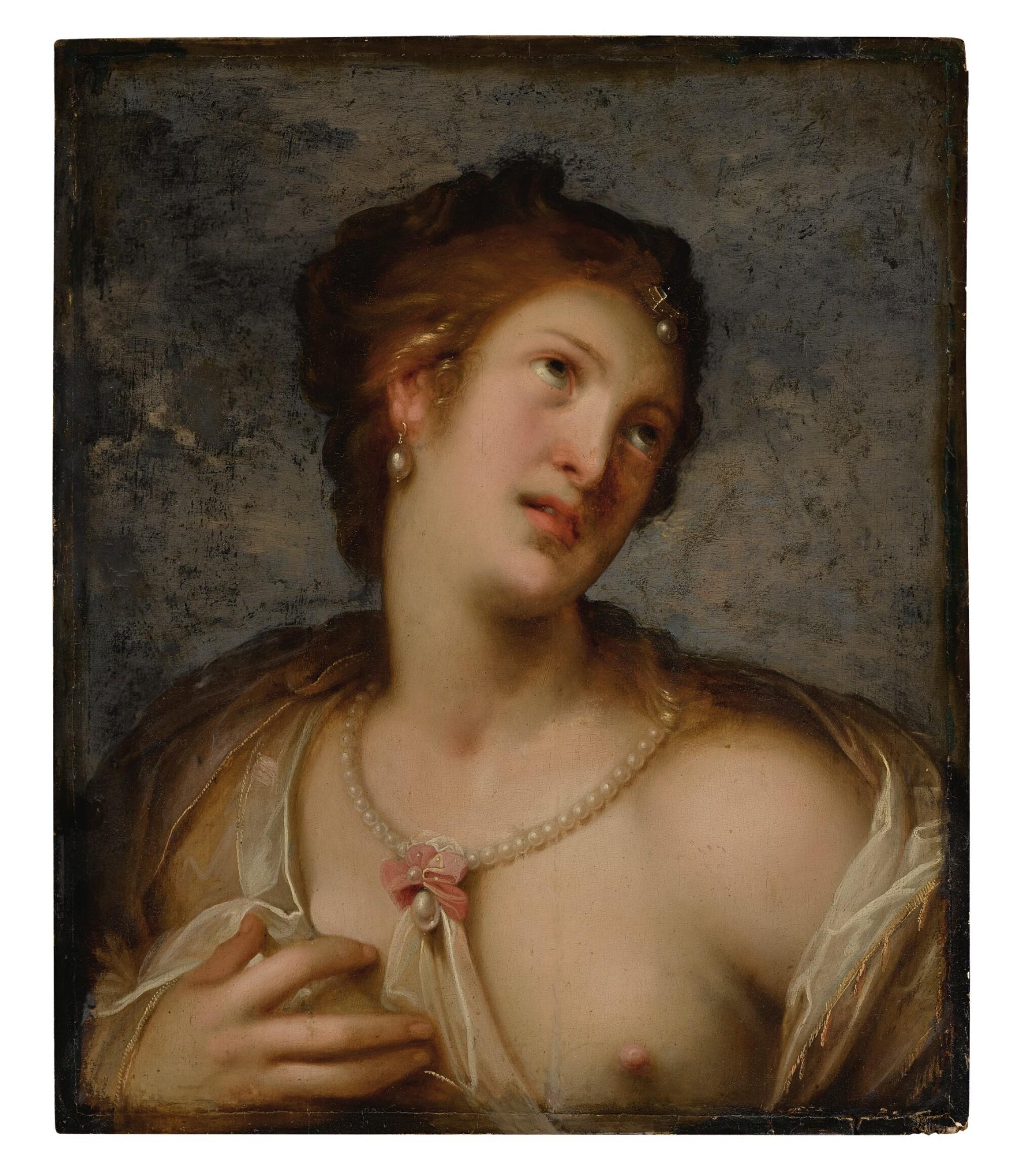 View full screen - View 1 of Lot 591. Venus, or a young woman en deshabillé.