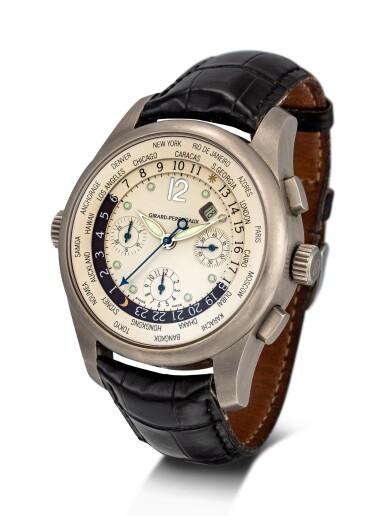 View 2. Thumbnail of Lot 8142. GIRARD-PERREGAUX   WW.TC, REFERENCE 4980   A TITANIUM WORLD TIME CHRONOGRAPH WRISTWATCH WITH DATE, CIRCA 2002   芝柏   WW.TC 型號4980   鈦金屬世界時間計時腕錶,備日期顯示,約2002年製.